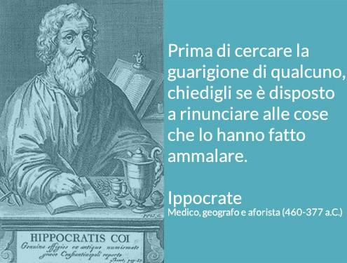 Citazione da Ippocrate: citazione su guarigione e cause della malattia
