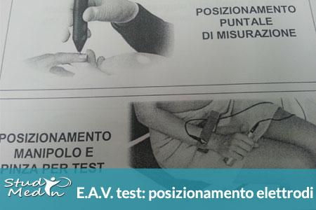 EAV test: schema posizionamento elettrodi